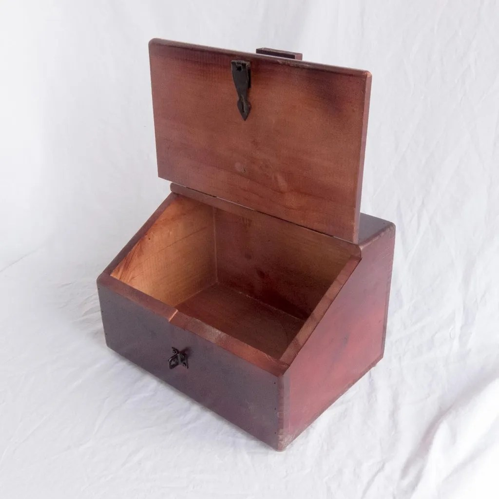 Shoe Box Australia Wooden Shoe Shine Box With Foot Rest Ebay