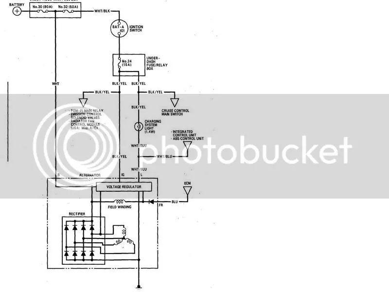honda alternator wiring