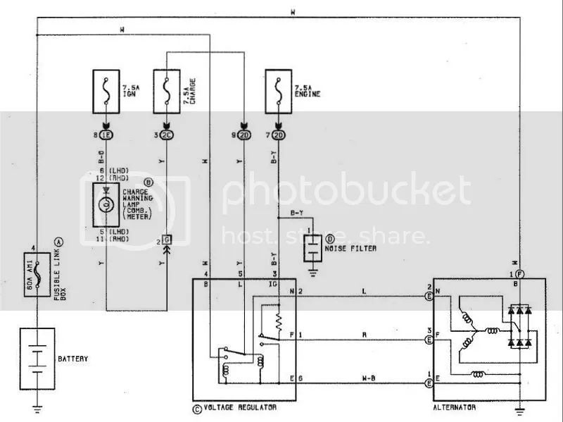 4 wire alternator diagram mitsubishi