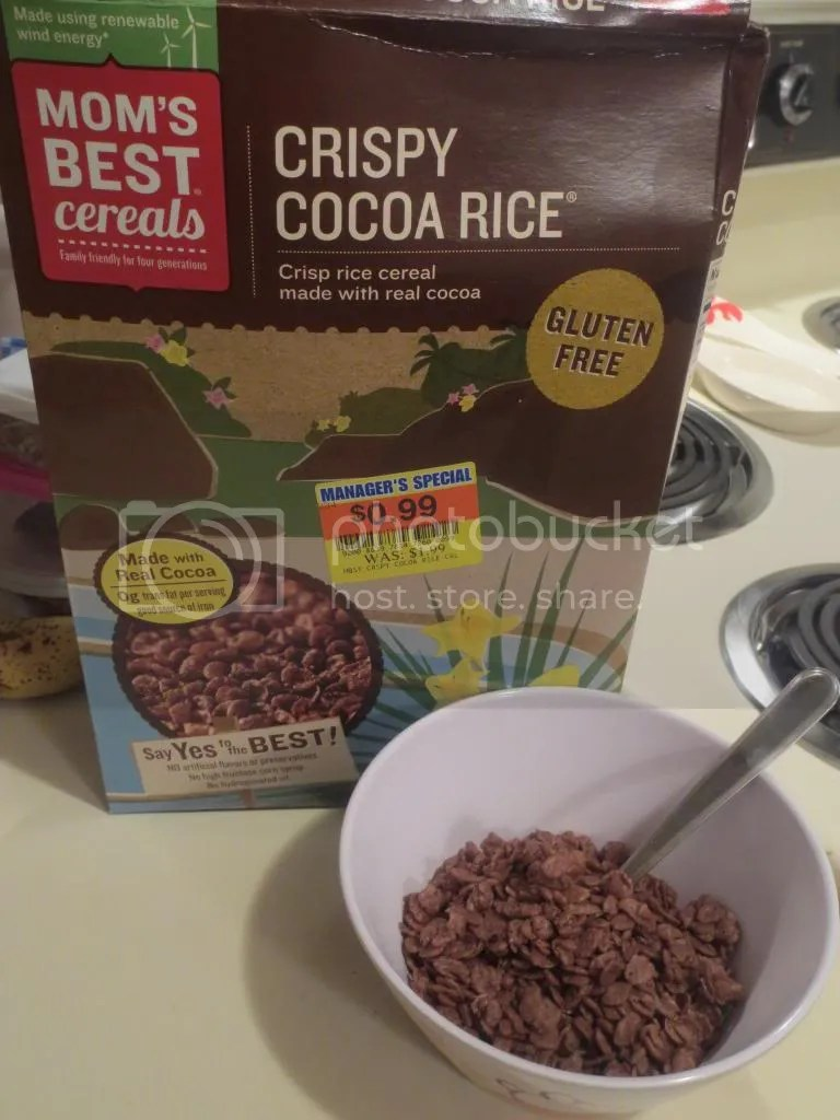 Moms Best A Sweet And Gluten Free Crispy Cocoa Rice Cereal Hit In The