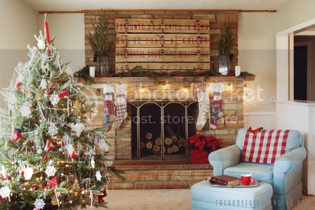 25 Unique Christmas Mantels - Home Stories A to Z - christmas decorations for mantels