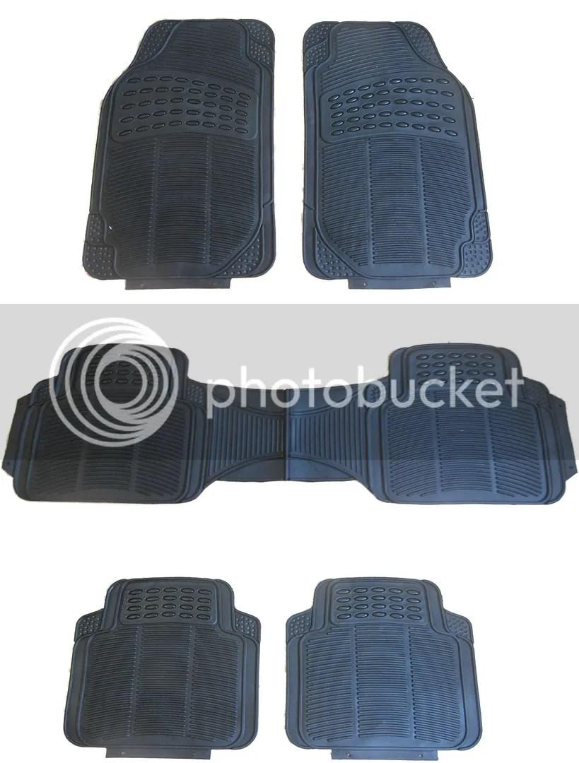 Heavy Duty Black Waterproof Rubber Mpv Mat Set Front Rear