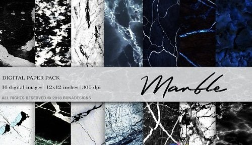 Marble Background Digital Paper - 2513682