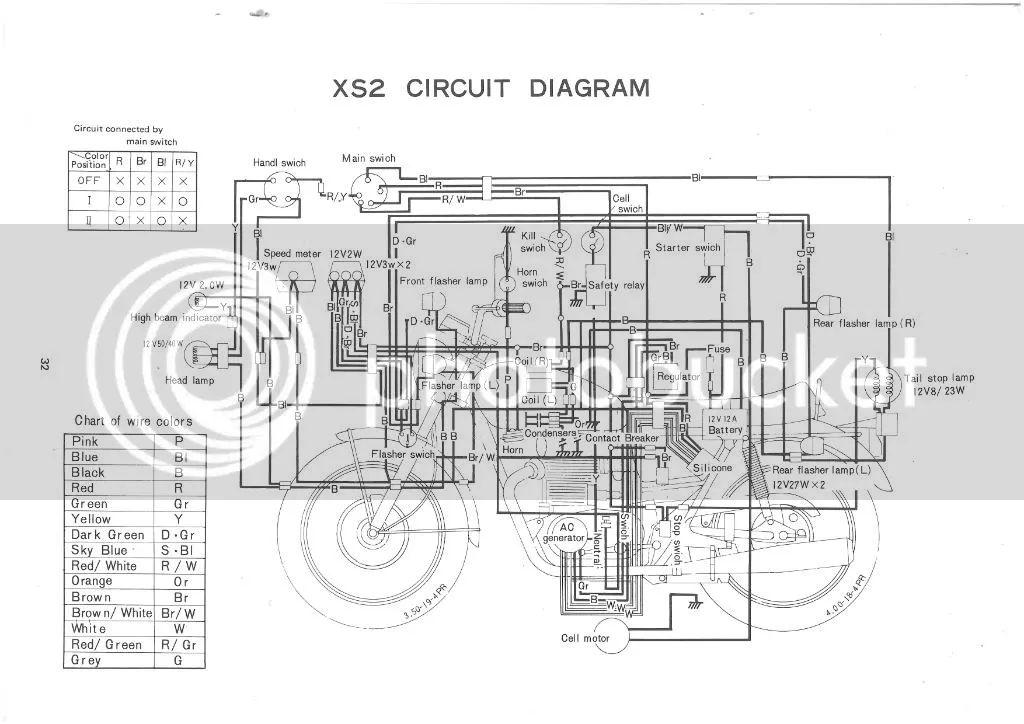 1973 yamaha tx650 wiring diagram