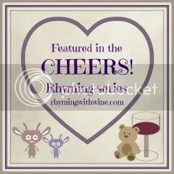 Rhyming with Wine Cheers series logo