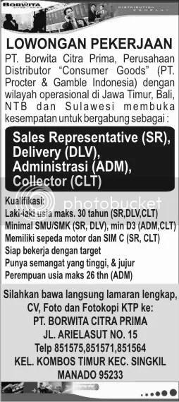 Lowongan Kerja Farmasi Di Manado Bursa Lowongan Kerja Depnaker Terbaru Agustus 2016 Loker Sales Representativ Delivery Collector Untuk Pt Borwita Citra