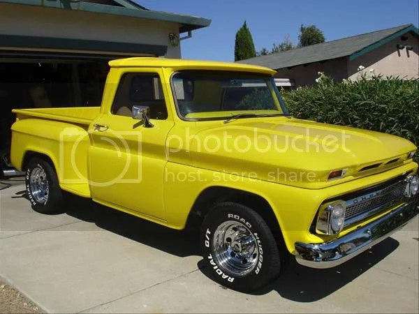 1966 Chevy Truck Yellow Control Cables  Wiring Diagram