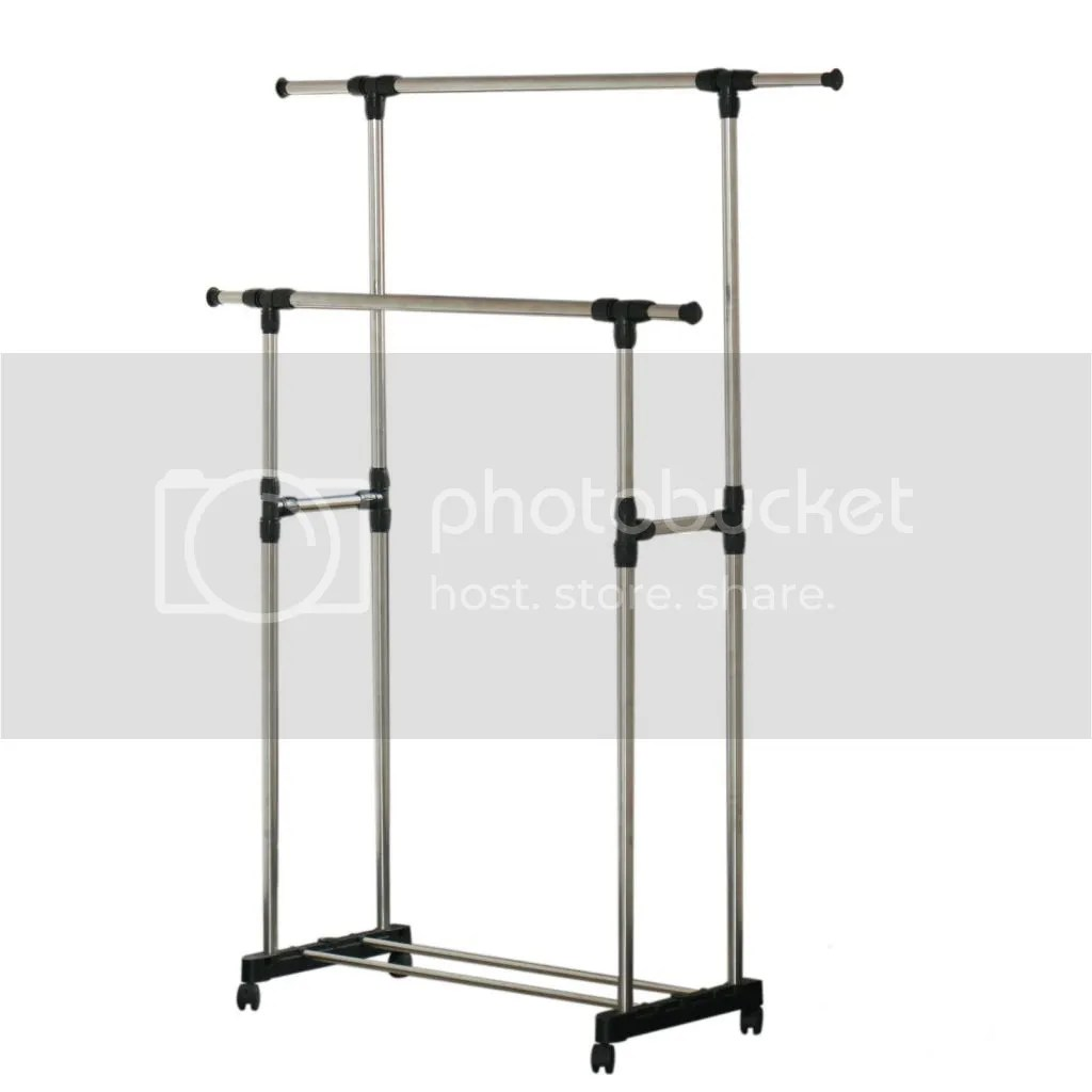 Cloth Hanger Stand Clothes Hanger Rolling Garment Rack