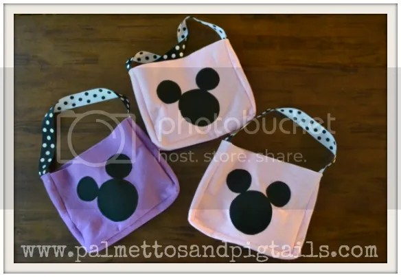 Mr. Mickey Mouse Head Felt Bags from Palmettos and Pigtails