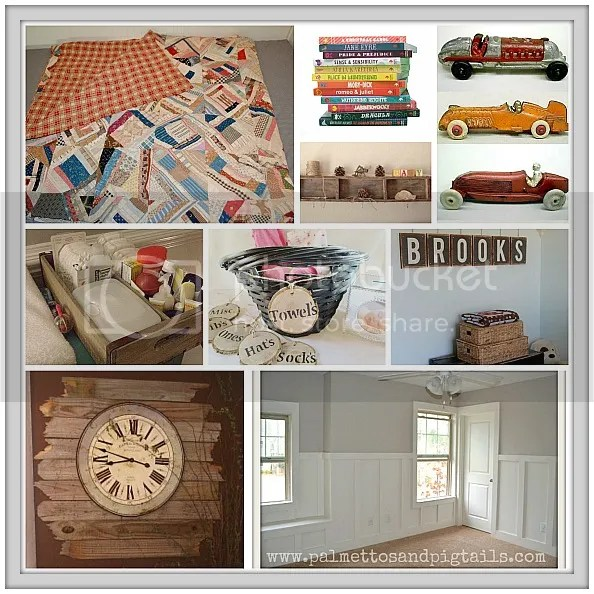 Baby Boy Vintage Baby Nursery Idea Board - Palmettos and Pigtails