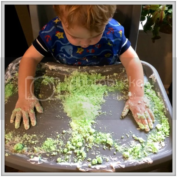 Lime Shaving Cream Play Dough Tutorial: our messy trials and errors!