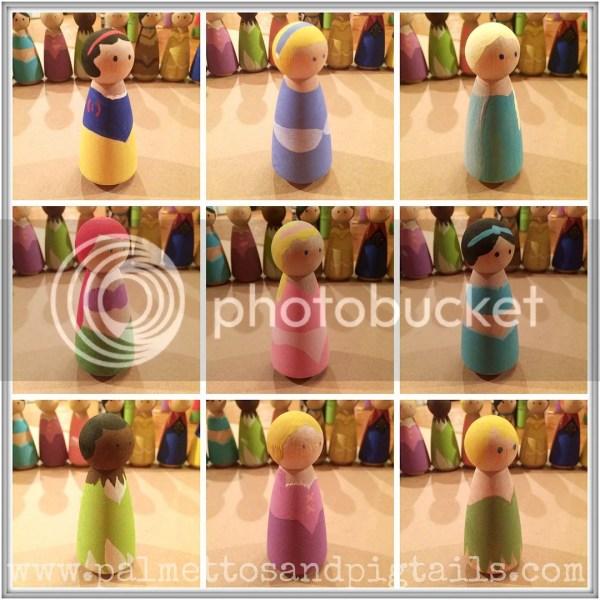 DIY Wooden Disney Princesses