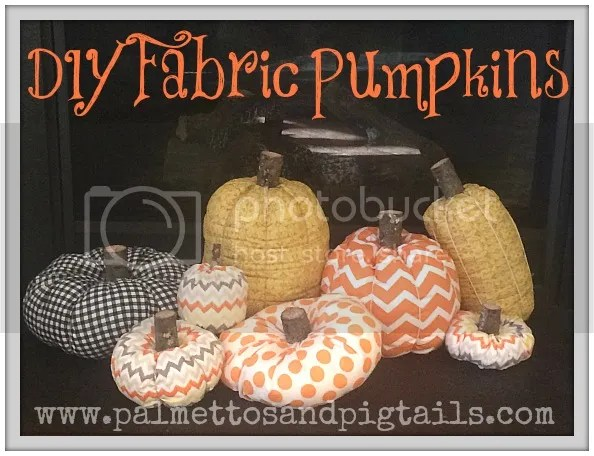 DIY Fabric Pumpkins - A Quick and Easy Project from Palmettos and Pigtails