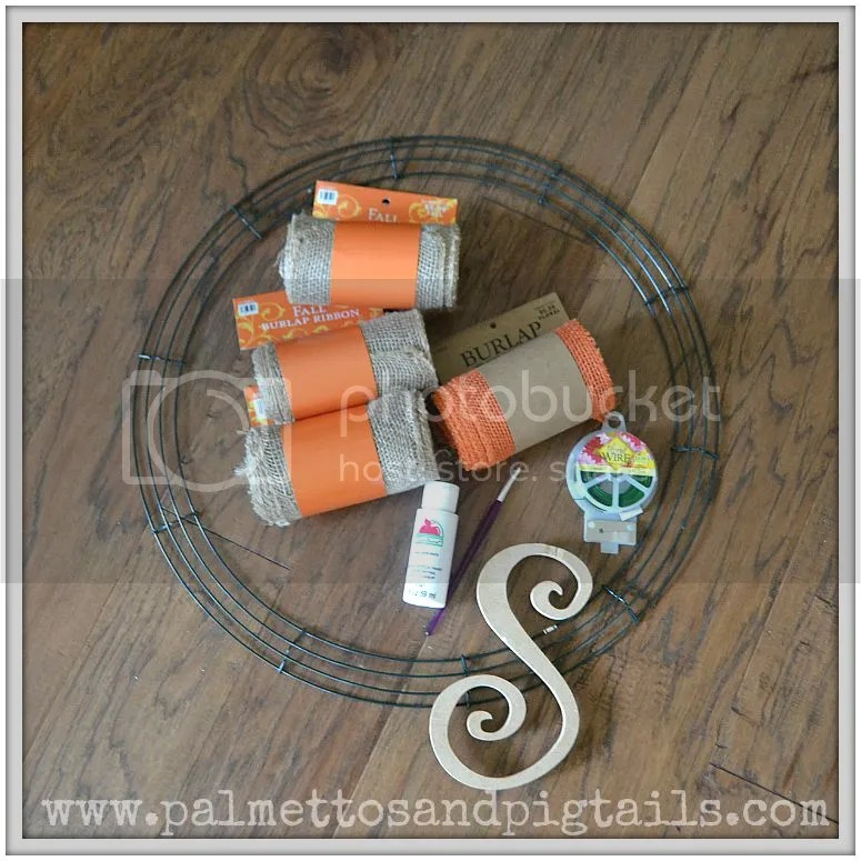 DIY Burlap Wreath Materials