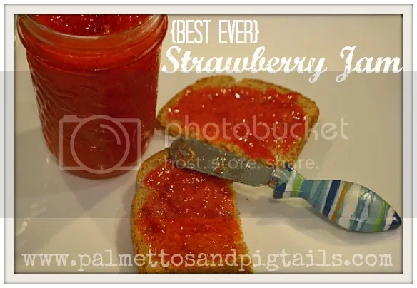 Best EVER Strawberry Jam from Palmettos and Pigtails