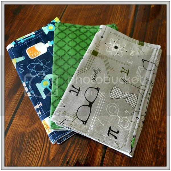 Because All Babies Puke: Why Burpcloths are Essential and a sneak peek at the new fabrics in my shop! Nerdy Burpcloths
