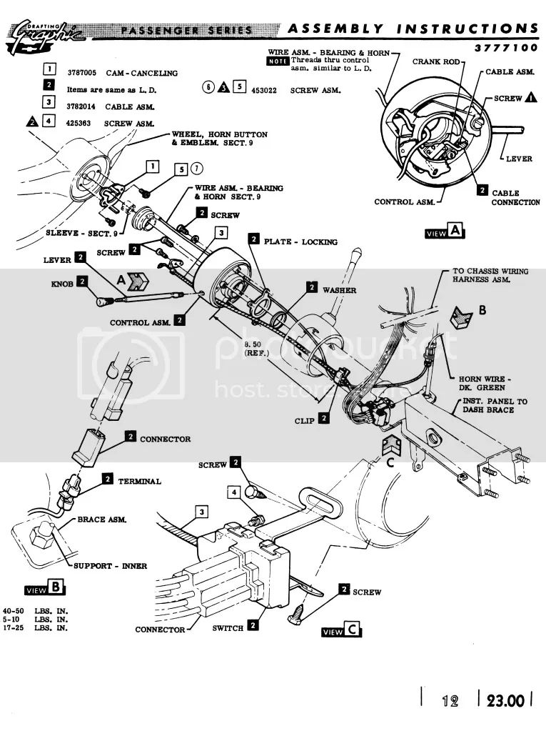 1964 ford falcon steering column diagram