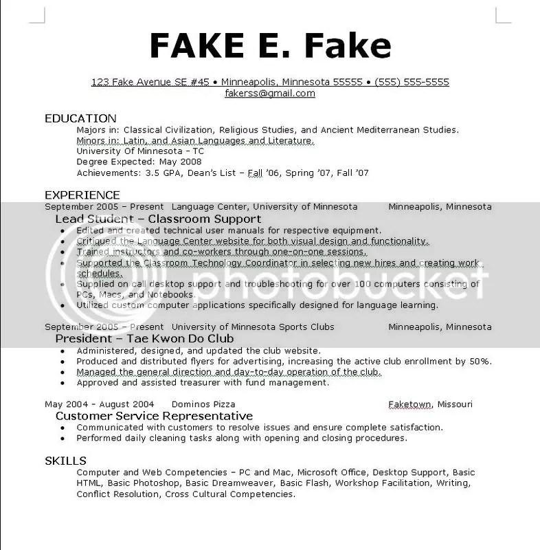 resume for career fair - Goalgoodwinmetals - fake resume