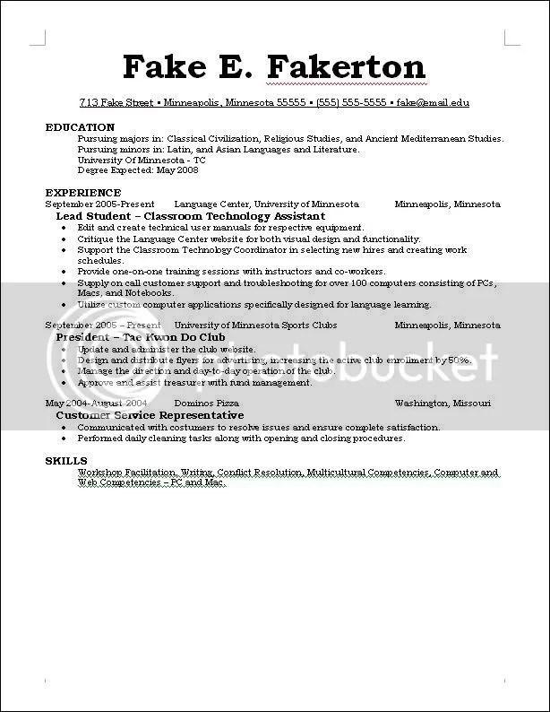 Revising my Resume \u2014 Penny Arcade