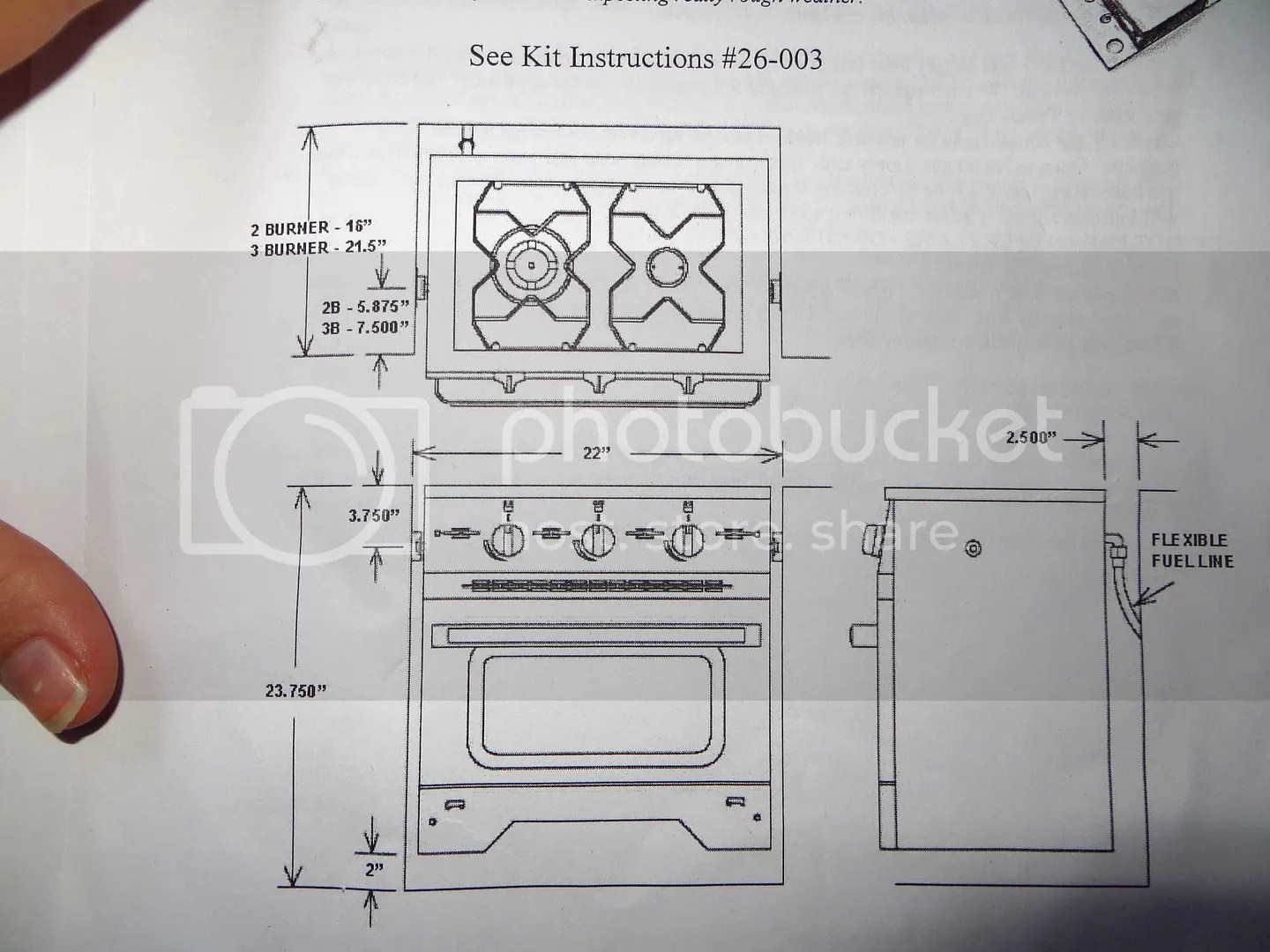 Instructions to mount the Dickinson Caribbean stove