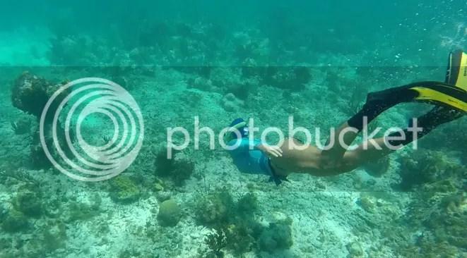 Dani Snorkeling in Providencia