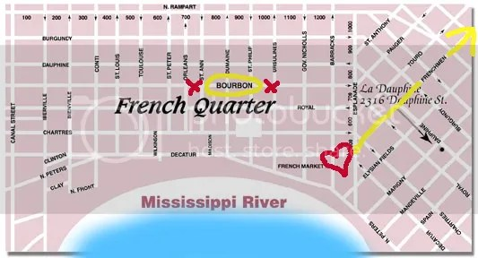 Frenchman street map
