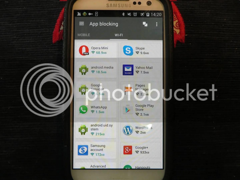 Opera Max Wifi app blocker