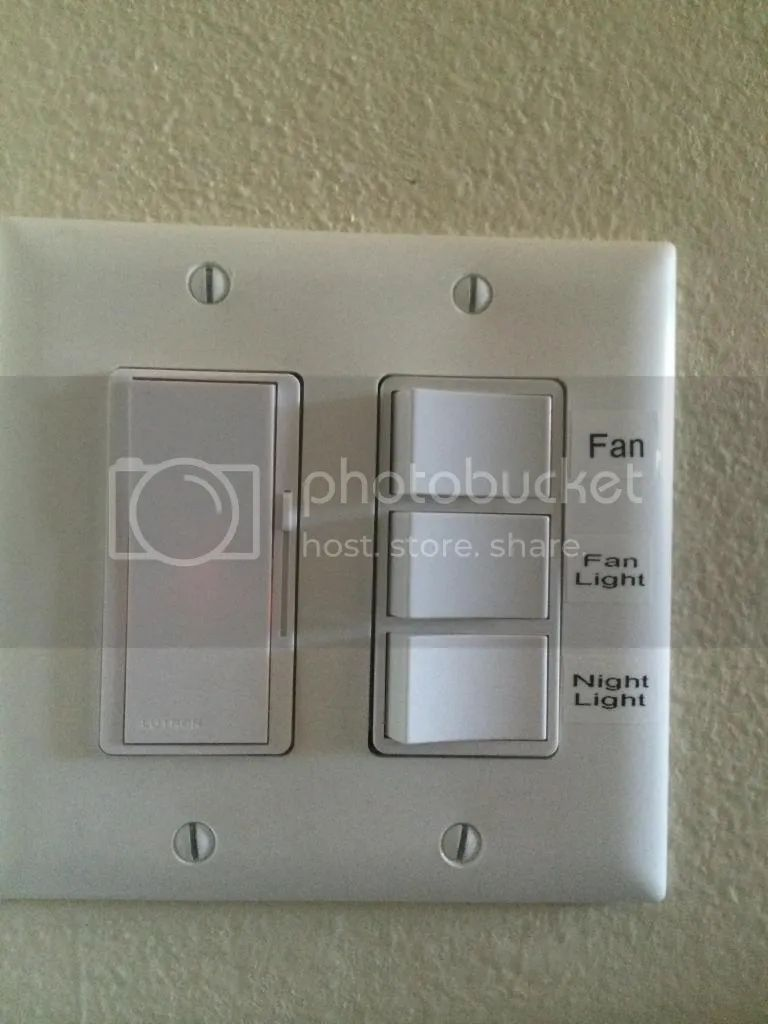 Bathroom exhaust fan with light and nightlight - Download