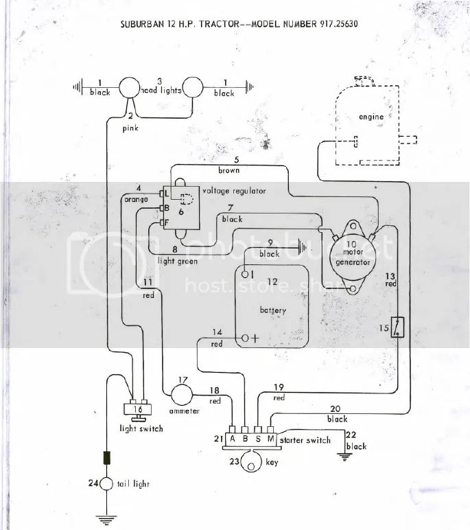 wiring diagram sears ss14