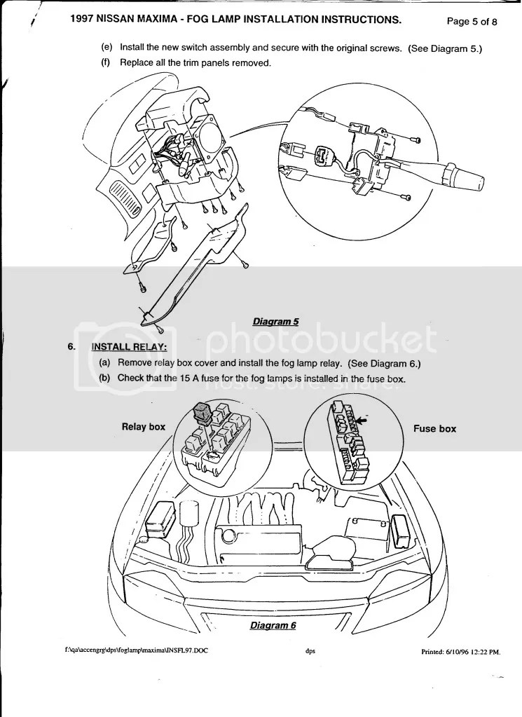 fog light install instructions 97-99 - Maxima Forums