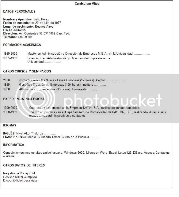 Carta de presentacion laboral - Imagui