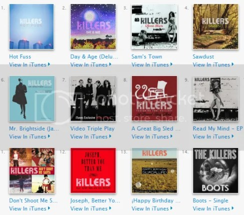 The Killers - iTunes Singles (5 EP's + 2 Singles)