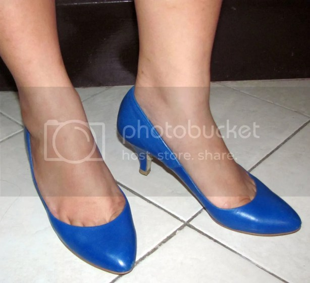 Blue Pumps when worn