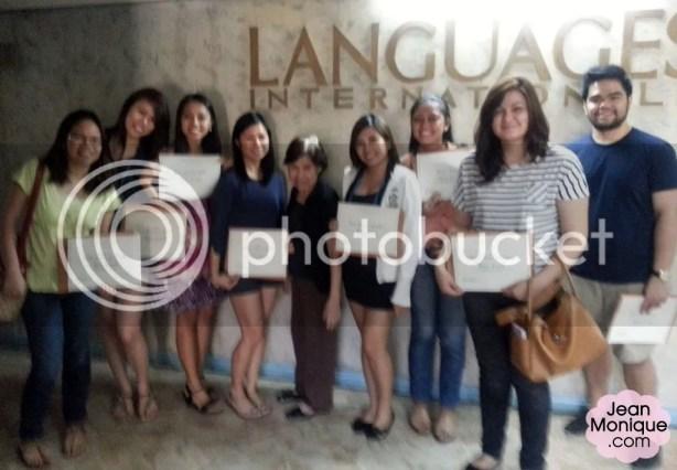 With my classmates and Madame Gigi