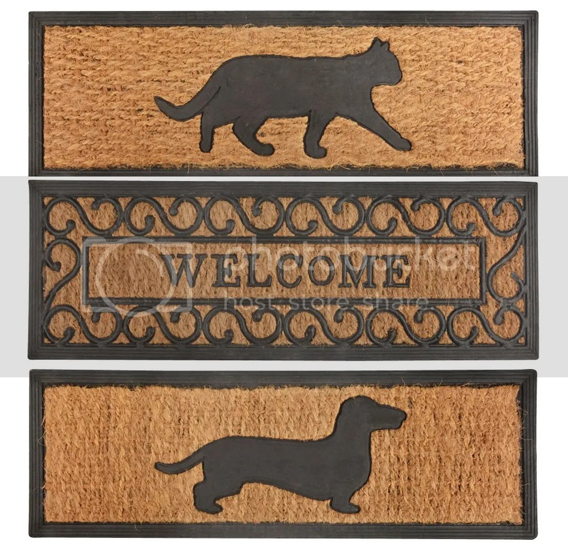 Dog Door Mats Outdoor Door Mat Entrance Narrow Doormat Step Coir Cat Dog Welcome