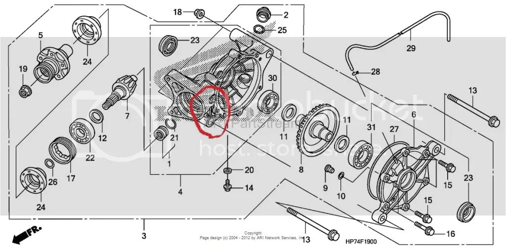 honda 250ex Motor diagram