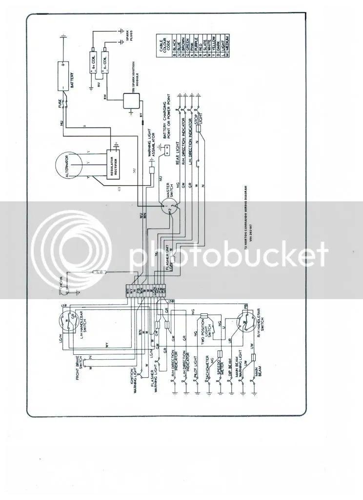 of proposed wiring diagram norton commando classic motorcycles