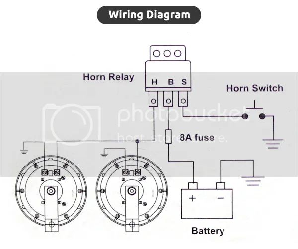 roots horn relay diagram