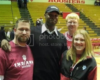 My brother and cousins with Indiana Hoosiers great Calbert Cheaney