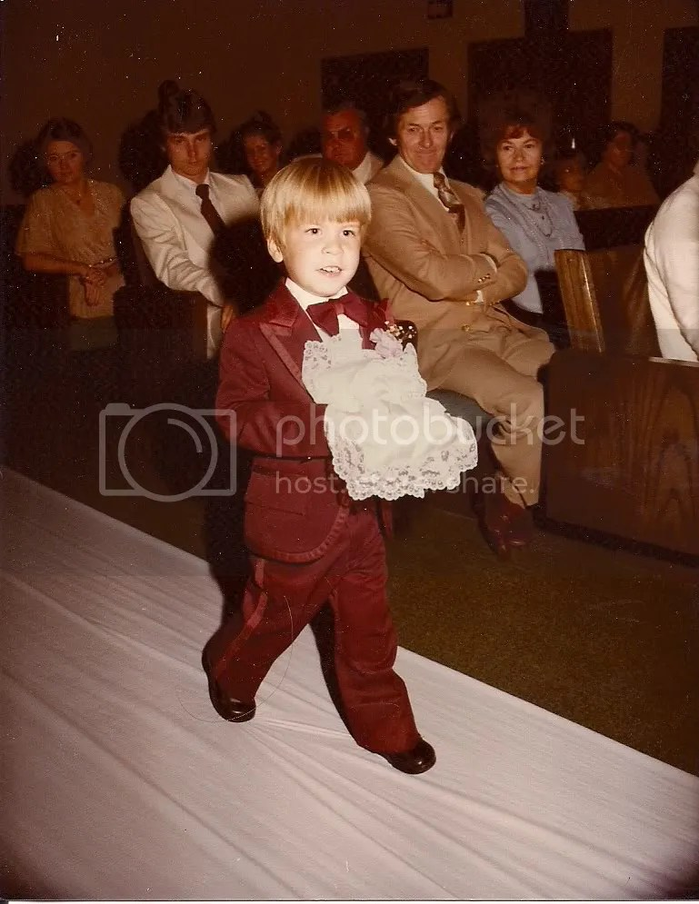 I was the Ring Bearer at my aunt and uncle's wedding.