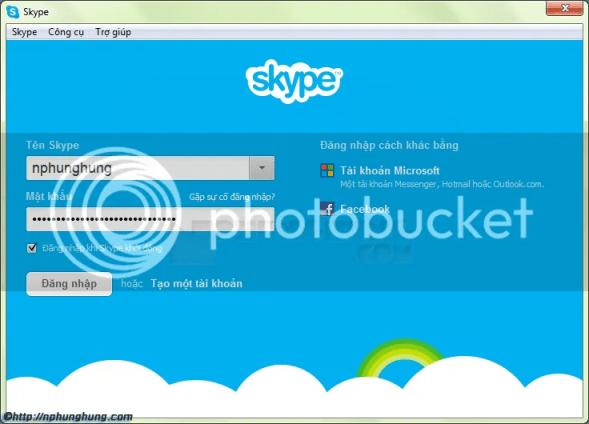 Đăng nhập Skype
