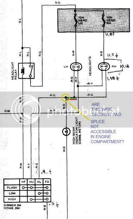 toyota h4 headlight wiring