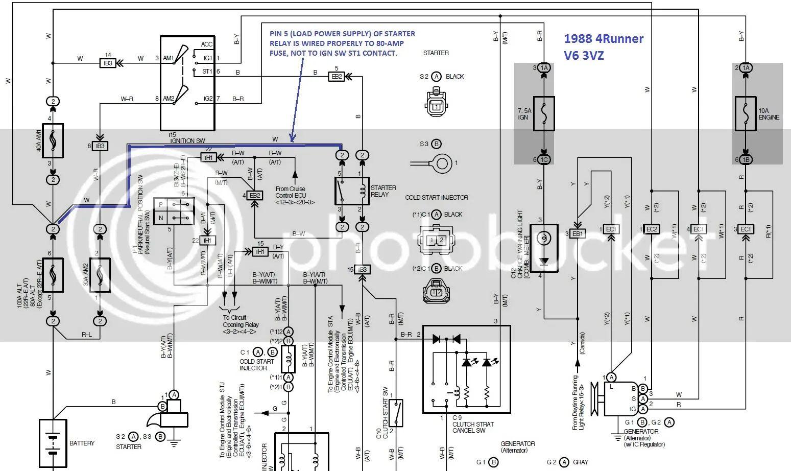 22re starter wiring diagram