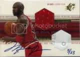 2000-01 Michael Jordan SPx Autograph