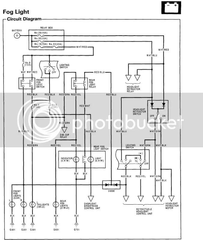 2000 civic fog lights wiring diagram