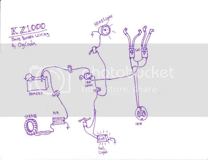 Kz1000 Wiring Diagram Bare Bones Wiring Schematic Diagram