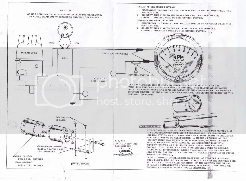 tachometer wiring instructions