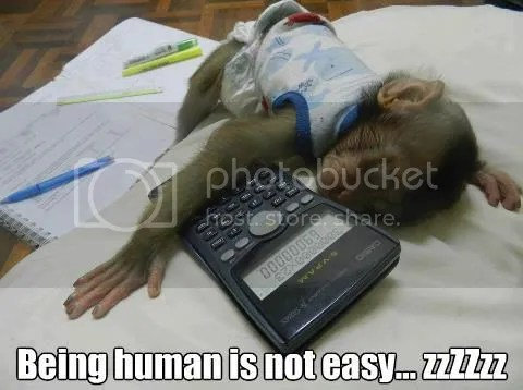 being human is not easy 