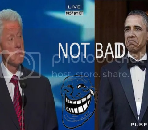 bill Clinton not bad to Obama 