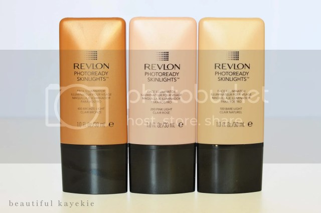 Revlon Photoready Skinlights bare light pink light bronze light review swatch FOTD